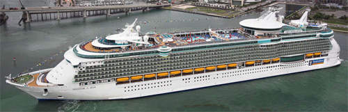 Freedom of the Seas is currently the world's largest cruise ship.