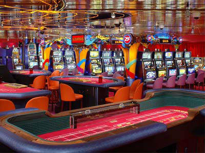 The casino offers a range of entertainment, including blackjack, poker, roulette and slot machines.