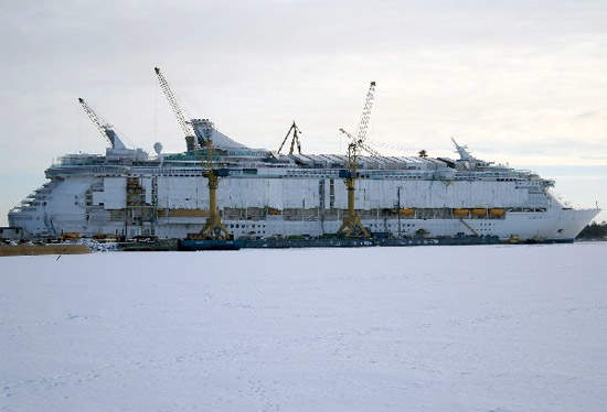 The shipyard where construction will be carried out will be similar to this.