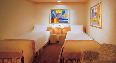 The cabins are luxurious and feature both queen size and twin beds if required.