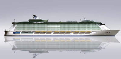 The ship will be environmentally friendly using much less fuel than previous cruise ships.