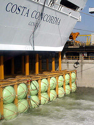 The ship bow end just prior to the launching ceremony.